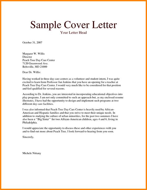 preschool teacher cover letter ledger review