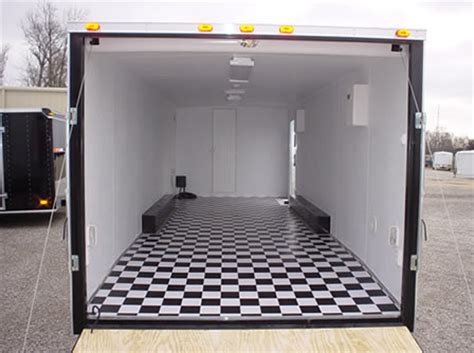 checkered vinyl flooring for trailers miscellaneous photos of enclosed trailers