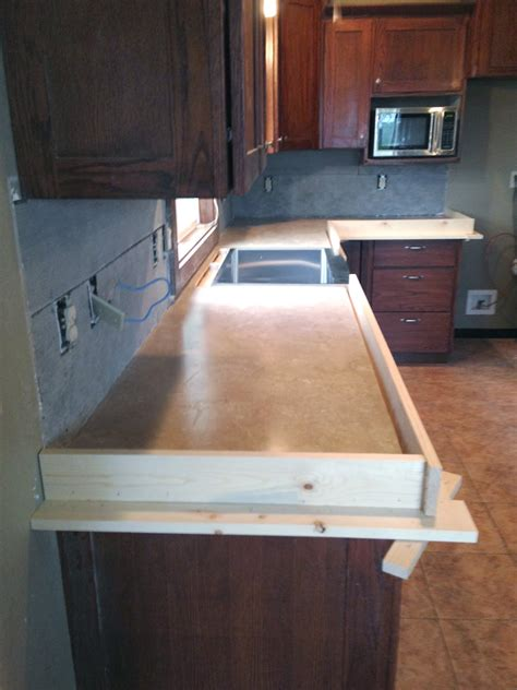 concrete countertops diy concrete counters poured laminate averie Concrete Countertops