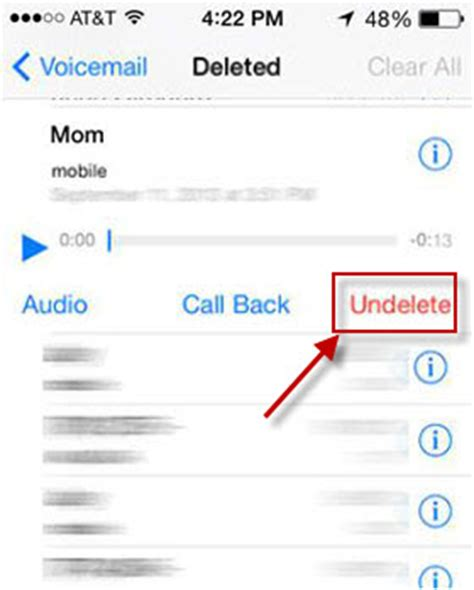 how to leave a voicemail without calling iphone how to undelete voicemail on iphone iphonepedia