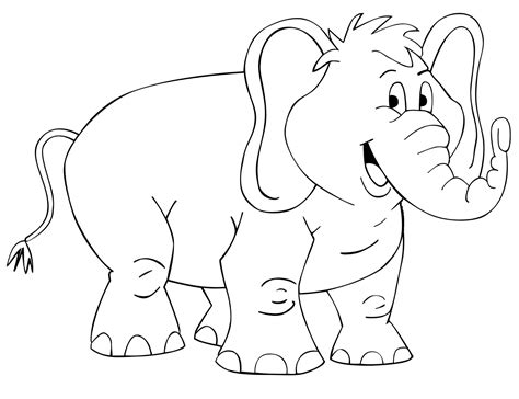 mewarnai hewan gajah