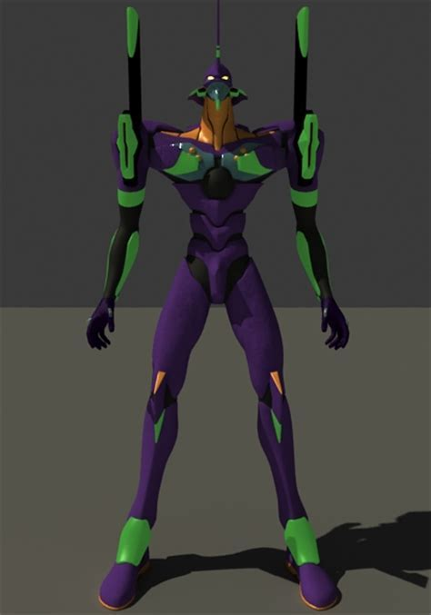 EVA Unit 01 Robot 3d model 3dsMax files free download