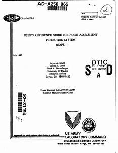 Pdf  User U0026 39 S Reference Guide For Noise Assessment