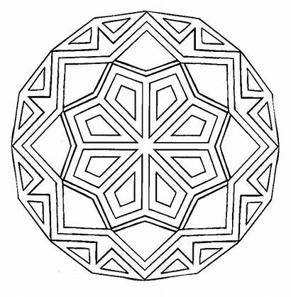 Mandala Coloring Pages Square Easy Printable Getcolorings
