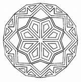 Mandala Coloring Square Printable Getcolorings sketch template