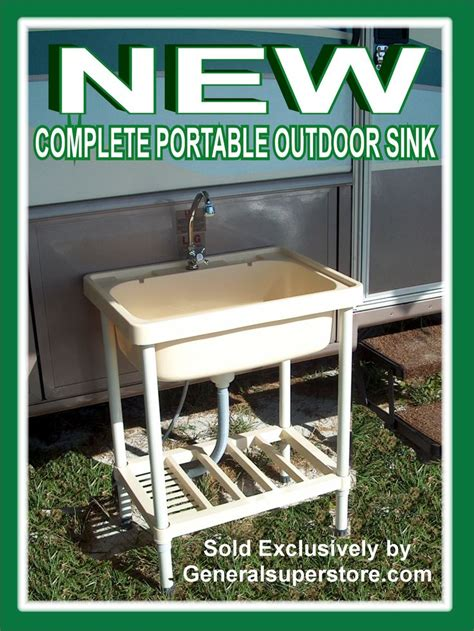 size portable outdoor sink needs only a connection to