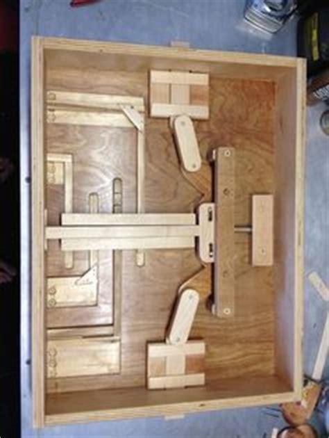 wooden puzzle lock  secret door holzbearbeitungs