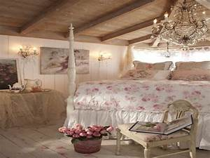 French vintage home decor, romantic shabby chic bedroom