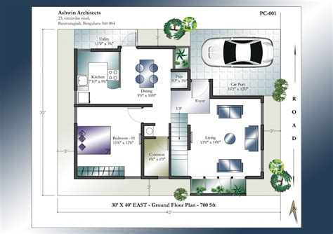 30 X 40 House Plan  East Facing House Plan  Home Plans India