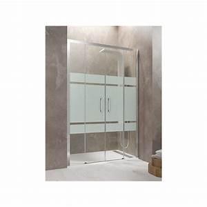 paroi de douche double coulissante tethys spazio satin With porte de douche coulissante avec evier salle de bain double vasque