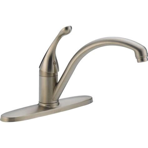 delta single handle kitchen faucet delta collins lever single handle kitchen faucet in