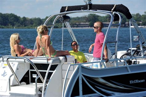 Jc Tritoon Boat Covers by Research 2015 Jc Pontoon Boats Tritoon Classic 266 On