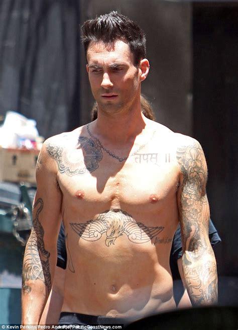 sexiest man alive adam levine shares   scenes