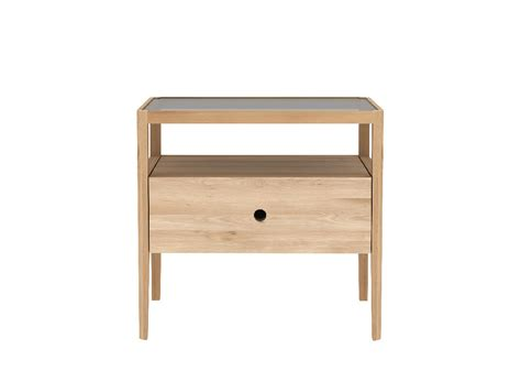 Spindle Nightstand by Oak Spindle Nightstand 55x35x52 Cm Soul Tables