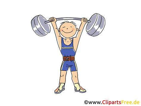 gewichtheben bild sport cliparts comic cartoon image