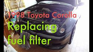 Step By Step   Replacing Fuel Filter On A 1997-1999 Toyota Corolla 1 6l Engine