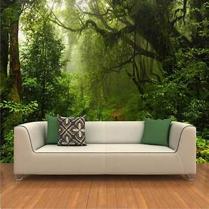custom 3d primeval forest wall mural photo wallpaper With balkon teppich mit 3d poster tapete