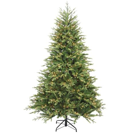 7 5 ft christmas tree with 1000 lights home accents holiday 7 5 ft pre lit balsam artificial