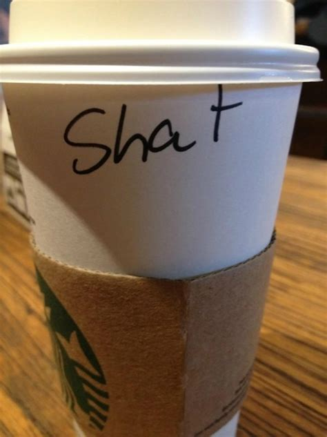 funniest misspelled names  starbucks coffee cups