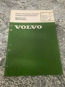 1976 Volvo 240 260 Intake Exhaust Emissions Factory Shop