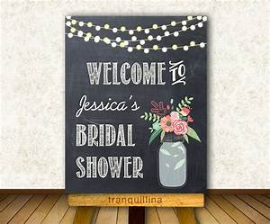 Printable welcome sign bridal shower welcome sign wedding for Wedding shower signs