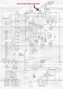 Wiring Diagram Showing Where The Flame  Oven Thermostat May