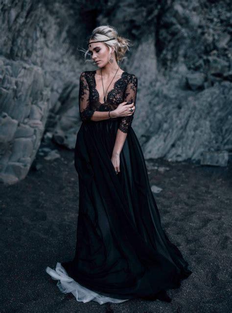 black wedding dress designs ideas design trends