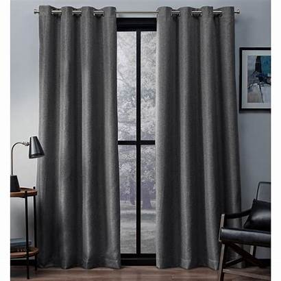 Curtains Curtain Grommet Blackout Woven Panel Pearl