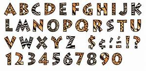 animal prints 4 inch venture ready letters t 79248 With animal print letters