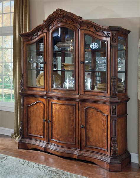 ledelle dining room china hutch   ashley furniture
