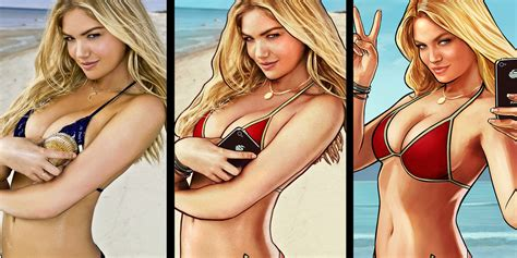 Thats Not Kate Upton In The Grand Theft Auto V Ads—its