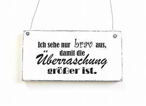 Schilder Mit Sprüchen : schild berraschung dekoschild vintage shabby chic ~ Michelbontemps.com Haus und Dekorationen