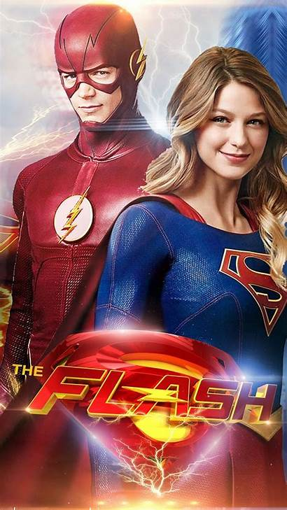 Supergirl Flash Crossover Poster Wallpapers Season Avengers