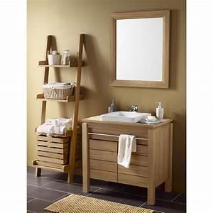 Renovation Salle De Bain Leroy Merlin : meuble de salle de bains teck naturel born o marron leroy merlin salle de bain pinterest ~ Mglfilm.com Idées de Décoration