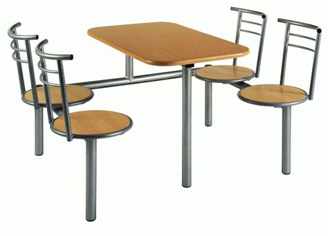fast food canteen tables and chairs