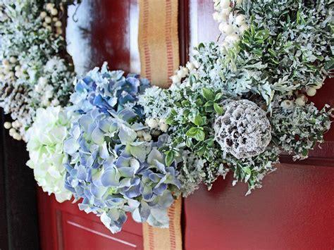turn  dated floral wreath   snowy winter wreath