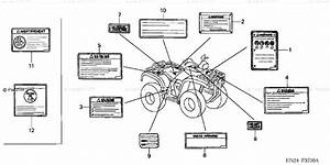 Honda Atv 2001 Oem Parts Diagram For Labels  Trx500fa U0026 39 01