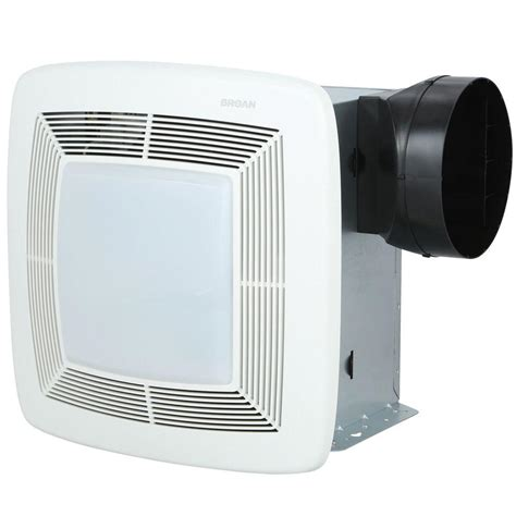 bathroom exhaust fan pipe size broan qtx series very quiet 110 cfm ceiling exhaust bath