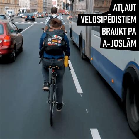 Pilsēta cilvēkiem: Надо разрешить велосипедистам ехать по полосам общественного транспорта ...