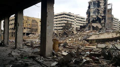 torn war aleppo syria parts ancient unhcr visit destruction road svenska fighting sy total heritage fredag tf2