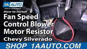 How To Replace Blower Motor Resistor 03