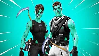 Fortnite Trooper Ghoul Skin Wallpapers Pickaxe Zombie