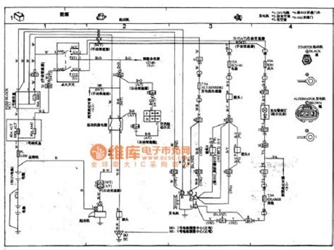 toyota coaster coach power supply starter motor circuit wiring circuit diagram automotive