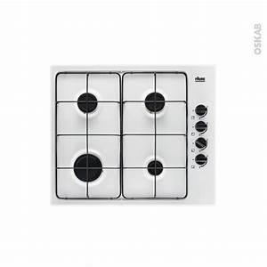 Plaque De Cuisson Gaz Verre Blanc : plaque de cuisson 4 feux gaz 60 cm blanc faure fgh62414wa ~ Dailycaller-alerts.com Idées de Décoration