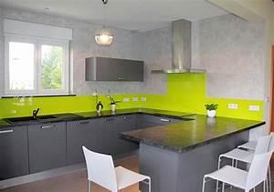 Pose Credence Verre : pose credence cuisine verre couleur cr dences cuisine ~ Premium-room.com Idées de Décoration