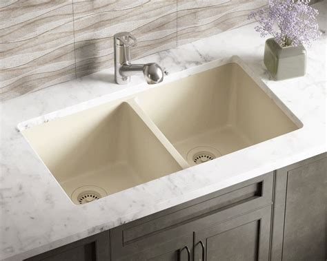 beige kitchen sink 802 beige equal bowl trugranite kitchen sink 1574