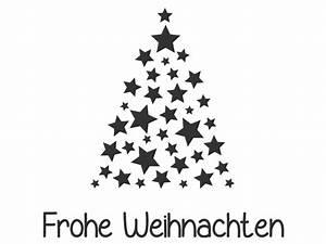 Tannenbaum Schwarz Weiß : wandtattoo sterne tannenbaum frohe weihnachten ~ Orissabook.com Haus und Dekorationen
