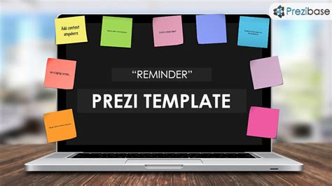 bureau post it reminder prezi template prezibase