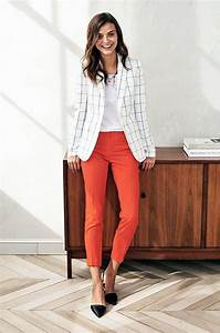 140 Casual Work Outfits Ideas 2018 | Casual work outfits Work outfits and Orange pants