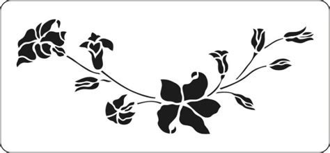 This lovely hanging liliy stencil is available to buy on line